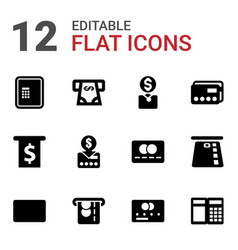 12 atm icons vector