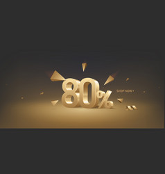 80 percent off discount sale vector
