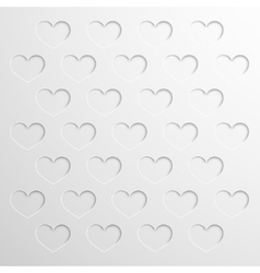 Abstract background with paper hearts vector