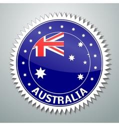 Australian flag label vector image