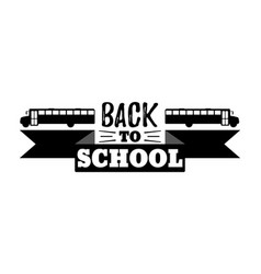Back to school typographic - vintage style vector