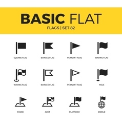 Basic set of flags icons vector image