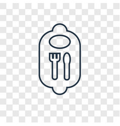 bib concept linear icon isolated on transparent vector image