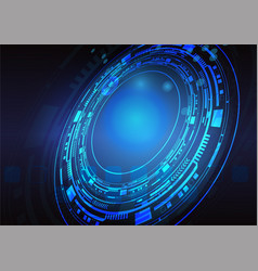 blue-technology vector image