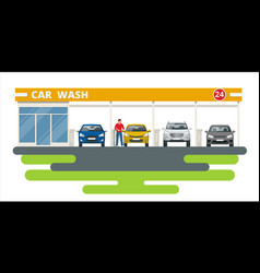 car washing service innovative self-service vector image