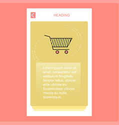 cart mobile vertical banner design design vector image