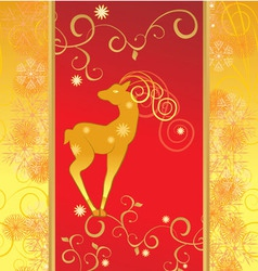 christmas decor deer vector image