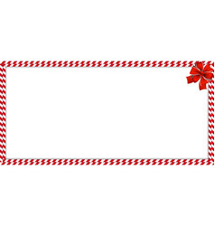 Christmas new year rectangle candy cane border vector