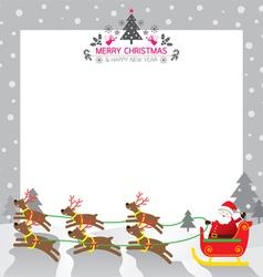 christmas Santa Reindeer Border vector image