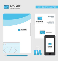 Code business logo file cover visiting card and vector