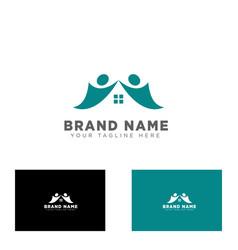 Community group logo design template vector