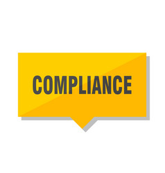 Compliance price tag vector