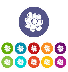 coronavirus icons set color vector image