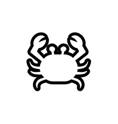 crab icon design template isolated vector image