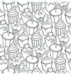 Cupcake patterns vector image