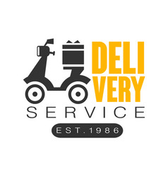Delivery service est 1986 logo design template vector