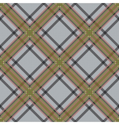 Diagonal tartan brown and gray fabric seamless vector image