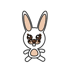 drawing rabbit animal character vector image