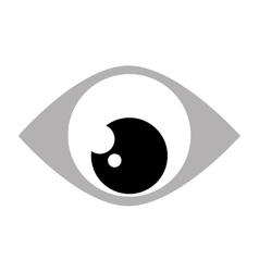 Eye looking down vector