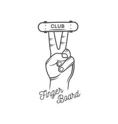 finger board club logotype vector image