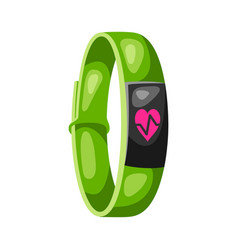 fitness bracelet tracker watch vector image