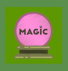 Flat shading style icon magic ball vector