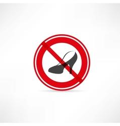 Forbidden for women icon vector