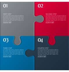 Four parts of puzzle vector
