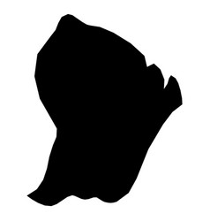french guiana - solid black silhouette map of vector image