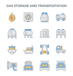 Gas storage icon vector