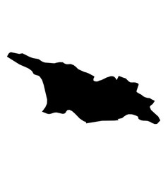 Georgia - solid black silhouette map of country vector