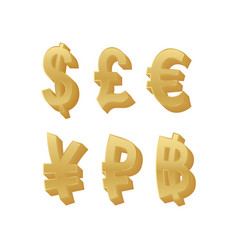 golden world currency sign vector image
