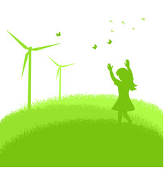 Green energy concept graphic vector