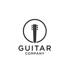 Guitar logo design vector