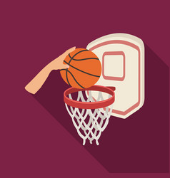 Hand with a ball near the basketbasketball single vector