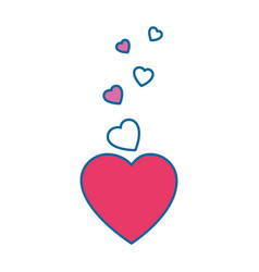 Hearts and love decoration vector
