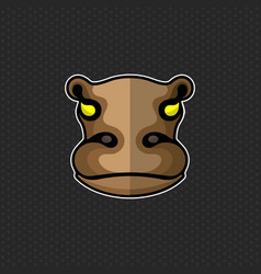 Hippo logo design template hippo head icon vector