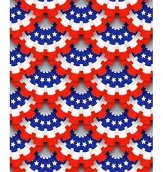 Holiday ribbon rosettes vector image