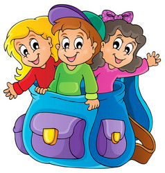 Kids thematic image 6 vector