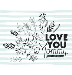 lovely mom for ever handmade postcard vector image