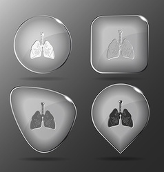 Lungs glass buttons vector
