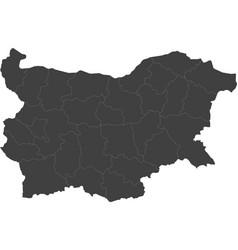 Map of bulgaria split into regions vector