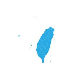 map of taiwan high detailed map - taiwan vector image
