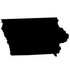 map of the US state of Iowa vector image