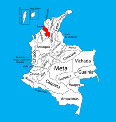 Map region sucre colombia province map vector