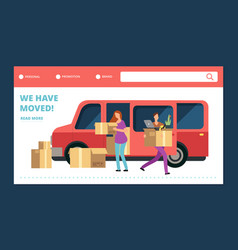 moving house web banner we have moved vector image