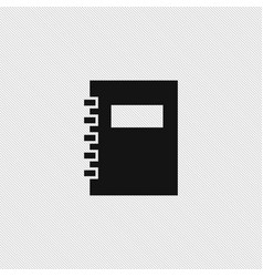 note book icon simple vector image
