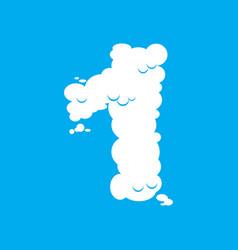 Number 1 cloud font symbol white alphabet sign vector