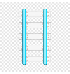 Rails and sleepers icon cartoon style vector
