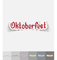 Realistic design element Oktoberfest vector
